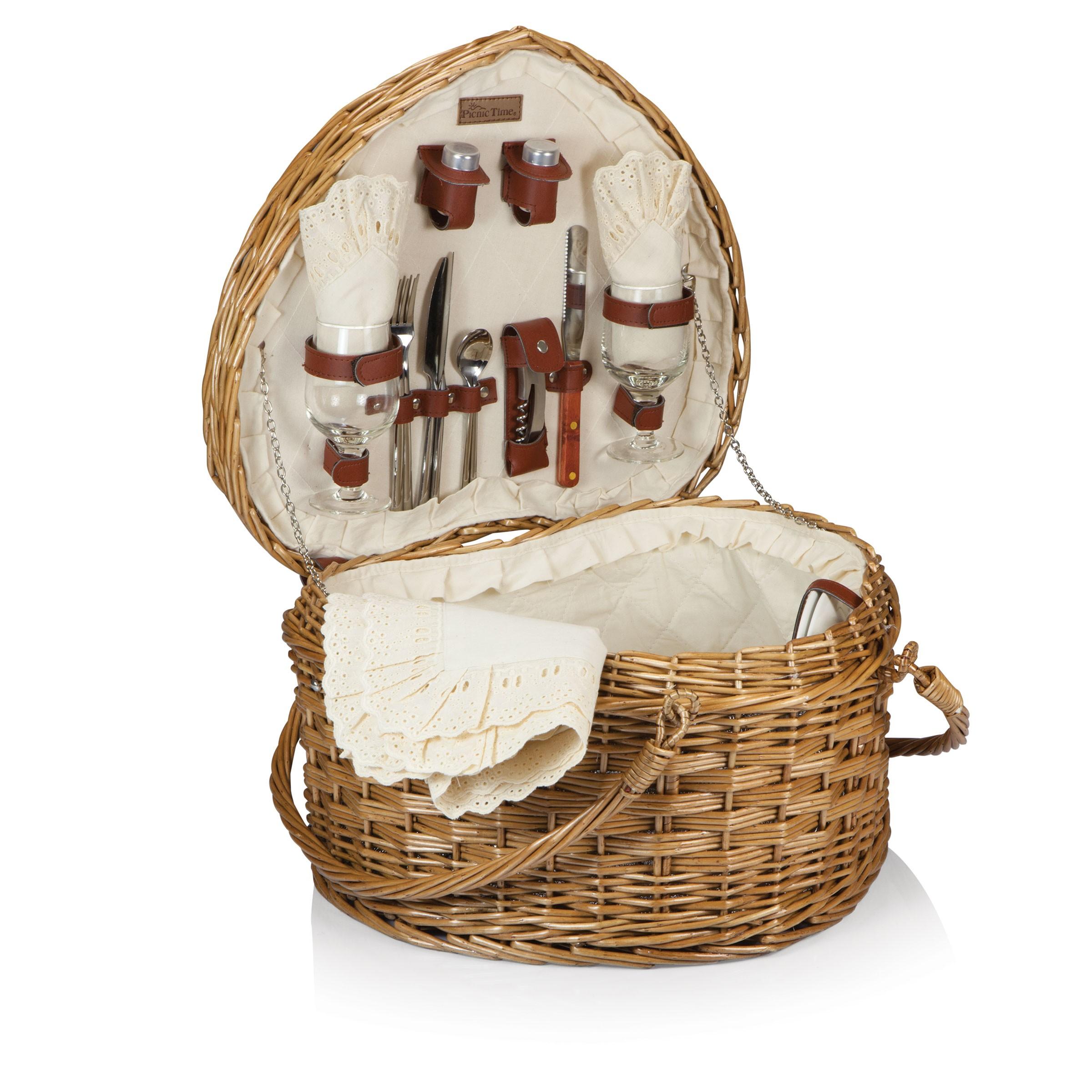 Heart Picnic Basket   Picnic Baskets   Wedding   Anniversary   gift